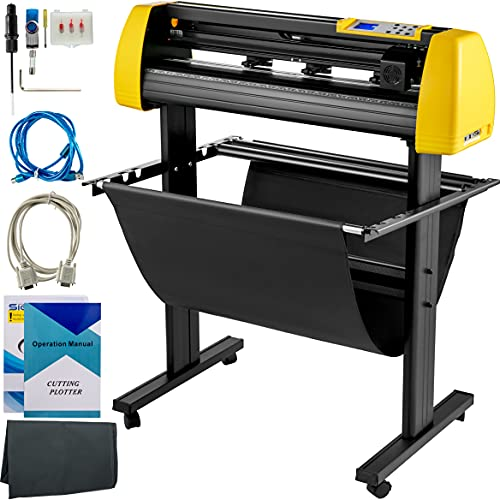 """VEVOR Vinyl Cutter Machine, 720mm Cutting Plotter, Automatic Camera Contour Cutting 28"""" Plotter Printer with Floor Stand Vinyl Cutting Machine Adjustable Force and Speed for Sign Making Plotter Cutter"""