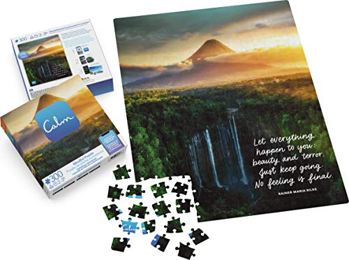 300-Piece Calm Puzzle for Adults and Kids Ages 8 and up, Waterfall Mountain