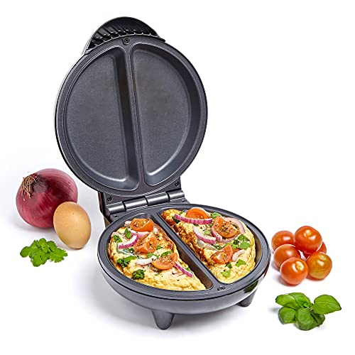 VonShef Omelette Maker - 750W Dual Chamber Cooker with Easy Clean Non Stick...