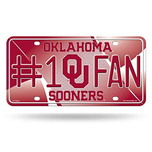 NCAA Oklahoma Sooners#1 Fan Metal License Plate Tag