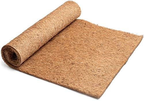 Esterilla de cultivo de 100% fibra de coco, 100 cm x 50 cm, 7 mm de grosor, alfombra de coco adecuada para el cultivo de semillas de gérmenes, calzas, etc.