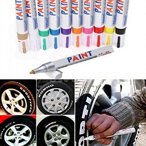 chengyida 13Color Universal impermeable Pintura Permanente rotulador neumático de coche banda de rodadura de goma metal