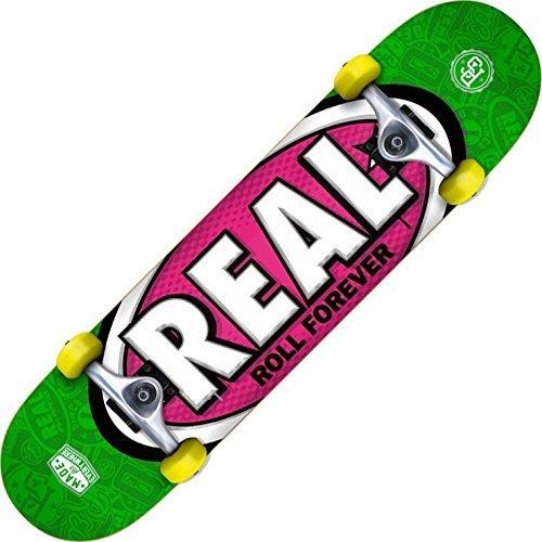 Echte Oval Tones MD Grün/Lila - 7.75inch Komplett Skateboard
