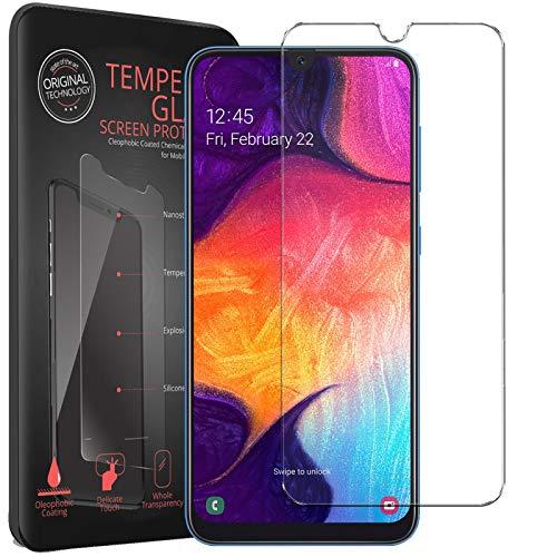 Conie® Bildschirmfolie für Samsung Galaxy A50 / A30s, Tempered Glass verstärkte Panzerglas Folie 9H Panzerfolie Gorilla Glasfolie, Galaxy A50 / A30s Bildschirmschutzfolie Klar