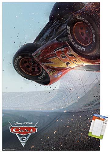 Trends International Disney Pixar Cars 3 - One Sheet Wall Poster, 22.375' x 34', Poster & Mount Bundle