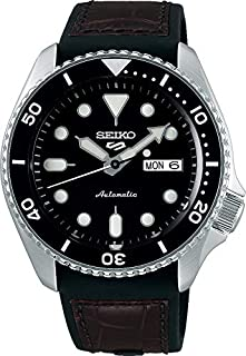 Seiko Men's Analogue Automatic Watch with Silicone Strap SRPD55K2