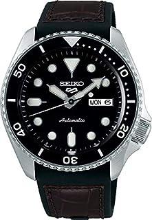 ساعة انالوج اتوماتيك للرجال من سيكو مع سوار من السيليكون- طراز SRPD55K2