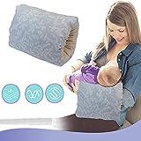 Nursie Breastfeeding Pillow Washable Portable Slip-on Arm Pillow Travel Nursing Pillow for Infants...