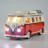 EDCAA Licht-Beleuchtung Set Für Creator Volkswagen T1 Reisemobil Modell Kompatibel Mit Lego Bausteine Spielzeug (Nicht Das Modell Set)