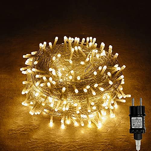 100/200/300/400er Led Lichterkette Strombetrieben mit Stecker Außen und Innen für Garten Hochzeit Weihnachten Party Warmweiß Gresonic...