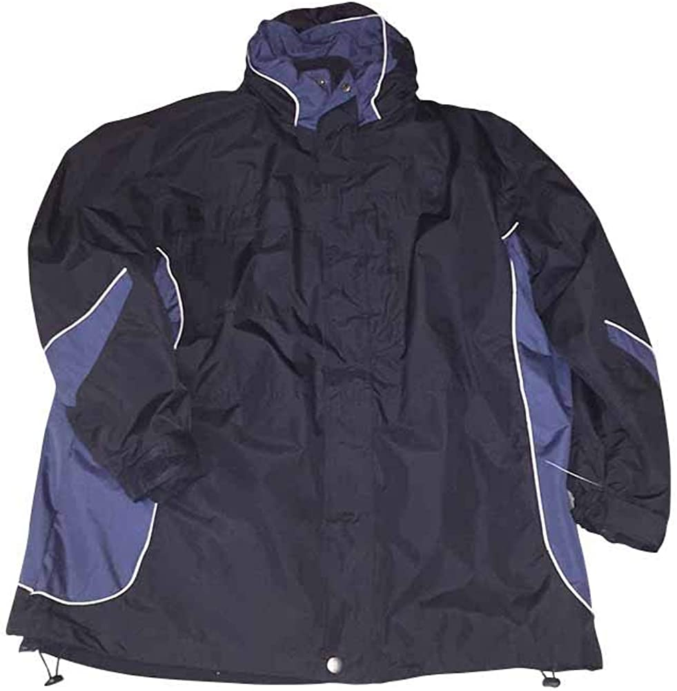 Boston Outfitters 2XBlack Blue Combo Interchange Systems Jacket with Removable Fleece Lining 2XLT