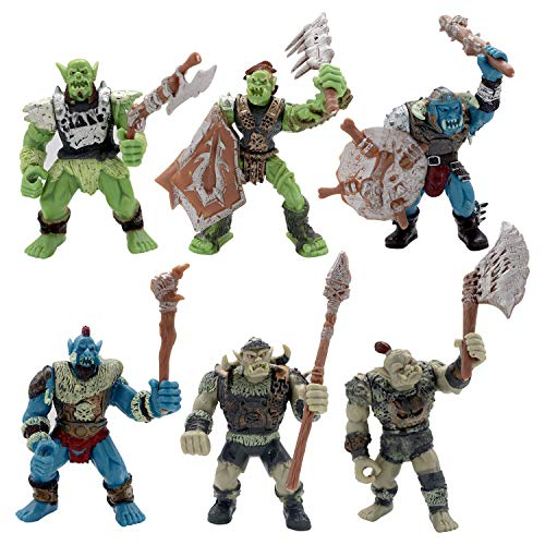 HAPTIME Orc Action Figure with Weapon Accessories/ Orks Figure Toy Playset for Boys Girls Children Kids 3 4 5 6 7 8 9 Years Old, Great as Christmas,Birthday, Set of 6