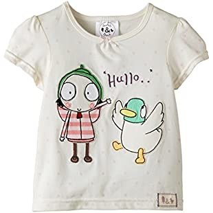 Sarah & Duck Girl's Hullo Short Sleeve T-Shirt, White, 18-24 Months:Donald-trump