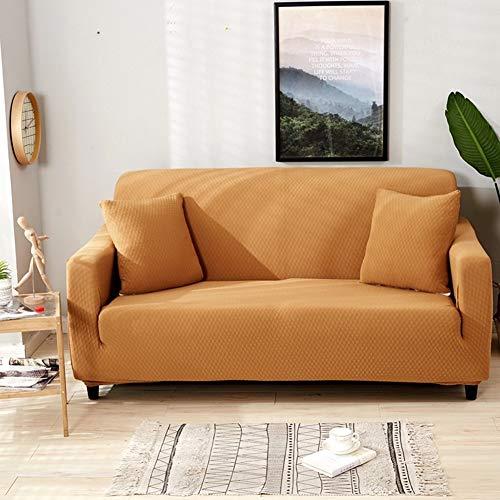 JiaQi Color sólido Espesar La Cubierta del sofá,Funda elástica,Impermeable Antideslizante Funda de sofá Guardapolvo Sofá Fundas para sofá de Cuero-Kaki sofá