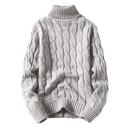 Herren Rollkragenpullover Slim Fit Twisted Knitted Casual Pullover Pullover Winter...