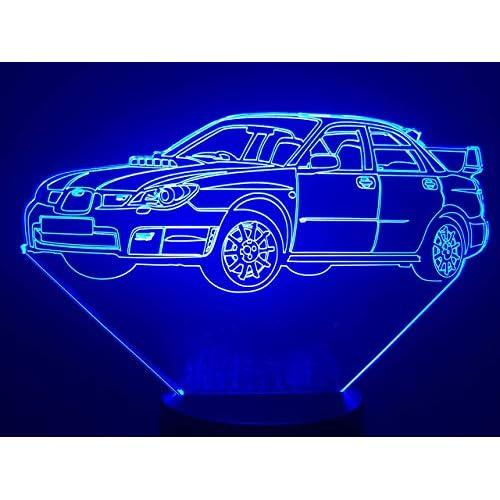 SUBARU Impreza WRX,Lampada illusione 3D con LED - 7 colori.