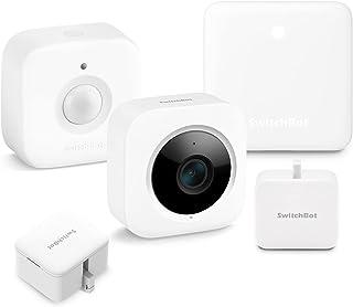 SwitchBot お帰りセット スイッチボットリモコン+人感センサー+スイッチ(2点)+屋内カメラ