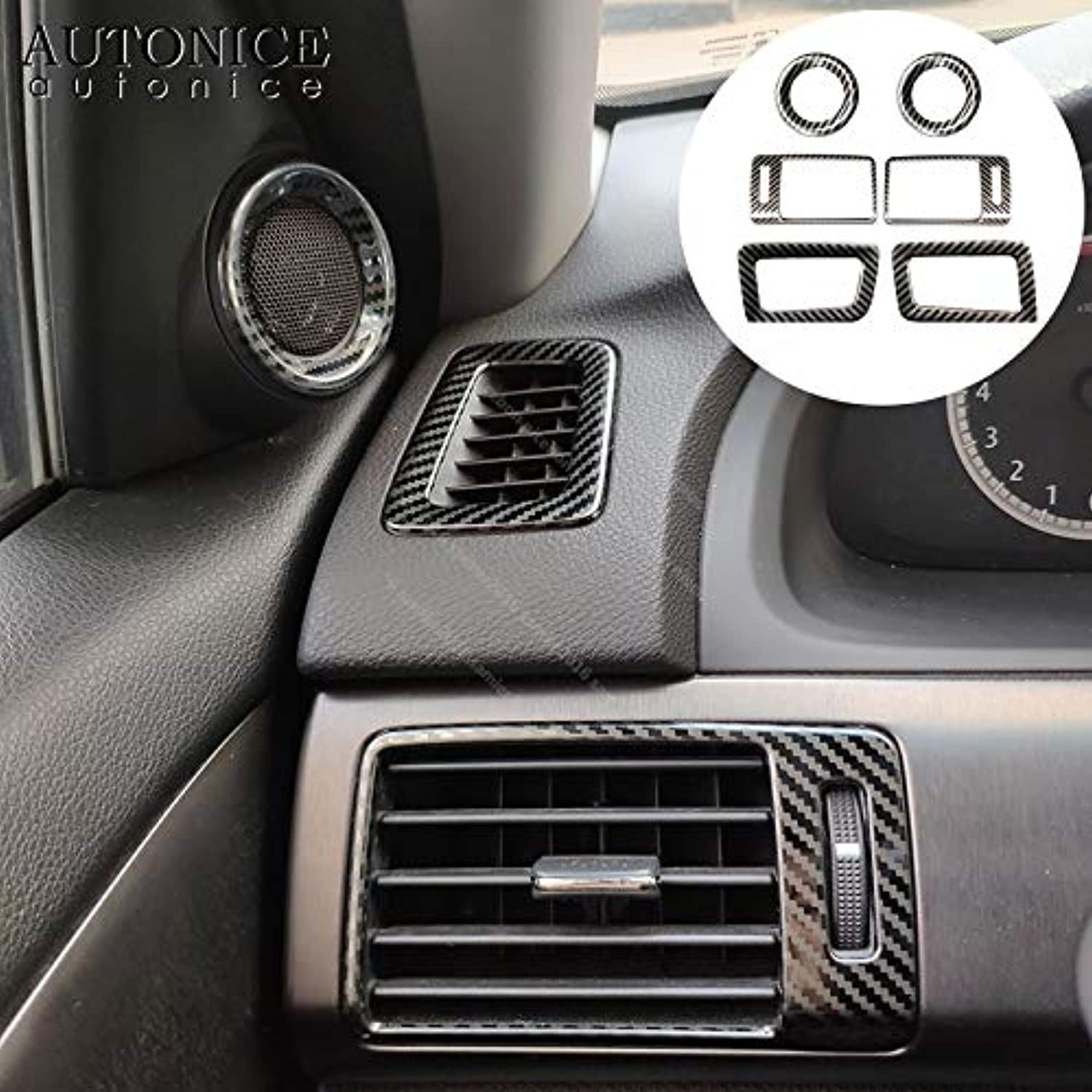 For Honda Accord Carbon Fiber color Interior Air Outlet Speaker Frame Cover Stainless Steel