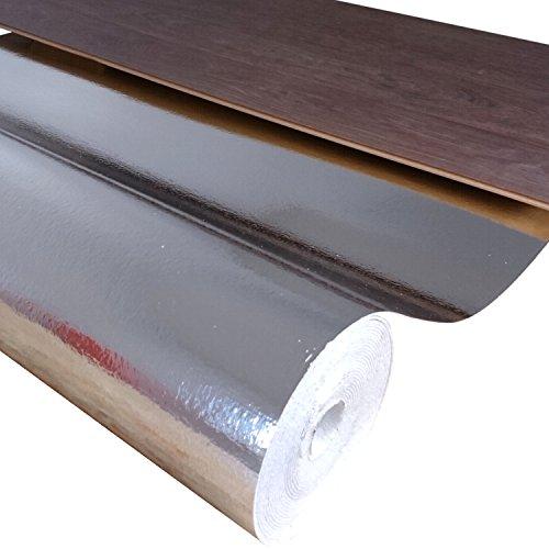 uficell® Kombiunterlage Stärke 3,0 mm - Hohe Trittschalldämmung bis 21 dB(A) und Gehschalldämmung für Laminat- und Parkettböden (60 m²   4 Rollen)