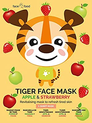 Face Food Tiger Sheet Face Mask Apple And Strawberry Revitalising Mask To Refresh Tired Skin