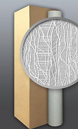 Behang glasvezel look EDEM 341-60 vliesbehang structuur behang overschilderbaar reliëfbehang wit | 4 rol 106 m2
