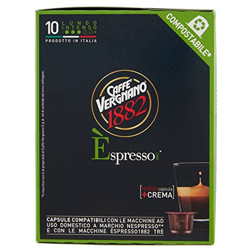 Caffè Vergnano 1882 Èspresso1882 Lungo Intenso - 10 Capsule - [confezione da 3]