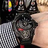 Gran Esfera Reloj Cuadrado Macho Warcraft Relojes No Mecánicos del Reloj Deportivo Actual