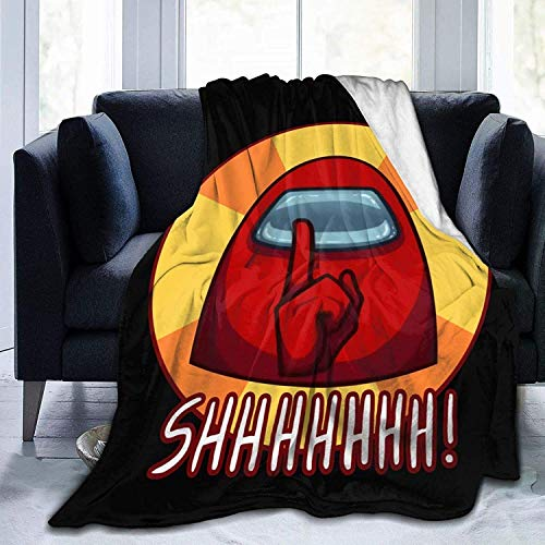 'N/A' WJOOM Among Us Merch Flannel Fleece Blanket Warm Throws Blanket All Season for Sofa Bed Couch