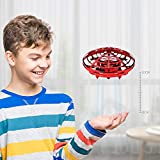 Boys Toys Kids Flying Drones Mini Hand Controlled Flying Ball Drone with 2 Speed and LED Light for...