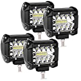 LED Faros de Trabajo, 4 Pulgadas, 2 Pcs de Potentes Focos LED Tractor, Impermeable Focos LED Faros para Coche, SUV, UTV, ATV, Off-road, Camión, Moto, Todoterreno