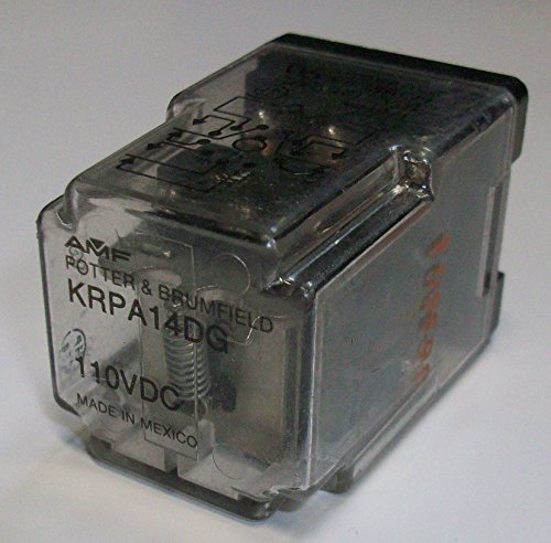 Power Relay, 3PDT, 110 VDC, 10 A, KRPA Series, Socket, Non Latching