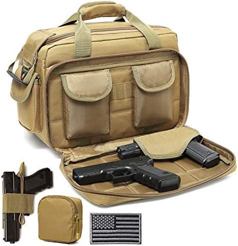 DBTAC Gun Range Bag Deluxe Middle Size Tactical 2 4 Pistol Shooting Range Duffle Bag with Lockable product image