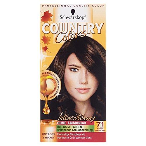 Schwarzkopf Country Colors Intensivtönung, 71 Kakao Dunkelgoldbraun, 1 Stück
