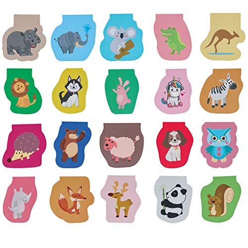 Uspeedy- 60 Pieces Cute Animal Magnetic Bookmarks Magnet Page Markers Cartoon Page Clips Bookmark for Student Office Reading Stationery Rewards Supplies