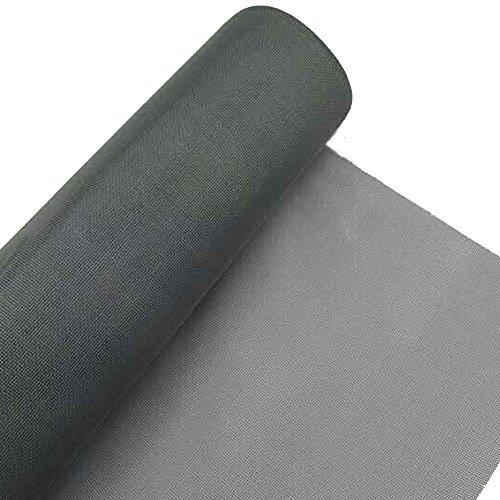 Flyzzz Vervangbare Glasvezel Mesh Insect Barrier voor Glasvezel Deur, Raam Scherm en Binnenplaats Muur 120x500cm DARK GRIJS