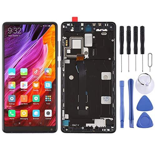 修理部品 Xiaomi Mi Mix 2用フレーム付きLCDスクリーンおよびデジタイザフルアセンブリ (色 : Black)
