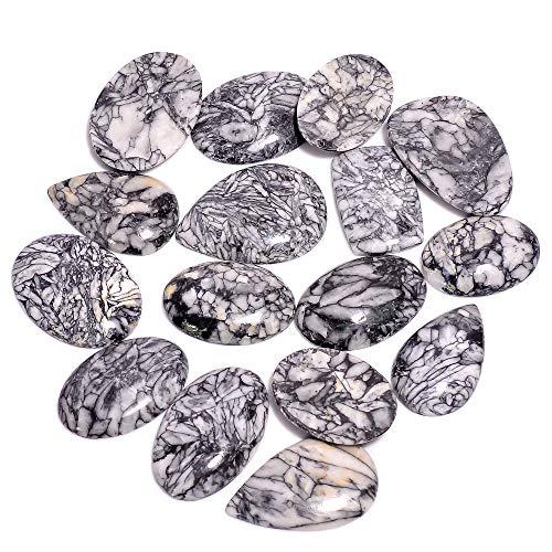 Gemkora 100 carats Pinolith Jasper Gemstone Wholesale Cabochons Lot, Jewelry Making Assorted Loose Gemstone, Polished Decor Specimen, DIY, Wire Wrapping, Healing Crystals, Bulk Gemstone Deal 2 to 4pcs