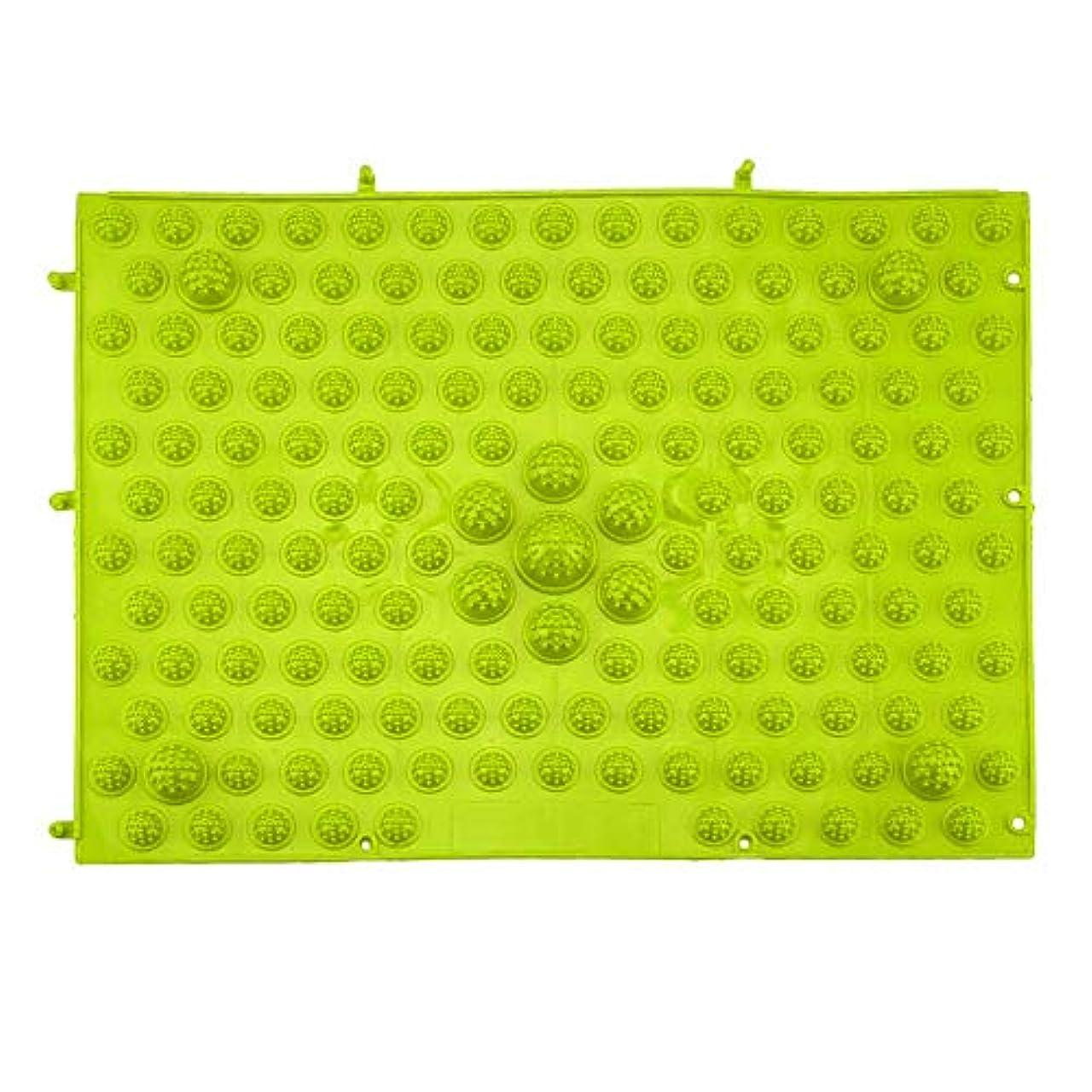 冷ややかなフレキシブル予報指圧フットマットランニングマンゲーム同型フットリフレクソロジーウォーキングマッサージマット用痛み緩和ストレス緩和37x27.5cm - グリーン
