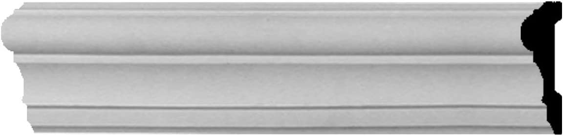 Ekena Millwork Raleigh Mall Ranking TOP18 CHA04X01CL-CASE-8 Claremont Chair Rail 8-Pack
