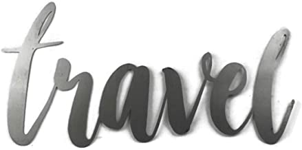 Travel Small Size Raw Steel Unpainted Word Art