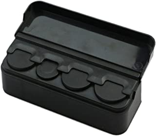 Coin holder plastic case for desk and car use, Black