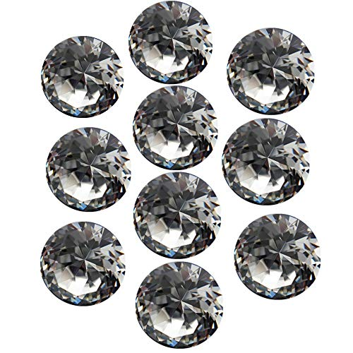 InChengGouFouX transparante kristallen glazen deurknoppen transparant/champagne/zwart kristal gesneden geometrische diamant glas handvat knop voor kast dressoir kast lade + schroef voor thuis decoreren