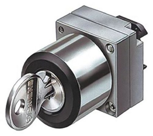 FURNAS ELECTRIC CO 3SB3500-4AD11 2 Position, MTND, All, OP, RND-MTL, Kyd SELECTOR Switch