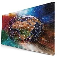 WOTAKA 大型 マウスパッド 幾何学的な惑星天体カラフルなファンタジー宇宙の風景 個性的 おしゃれ 柔軟 かわいい ゲーミングマウスパッド PC ノートパソコン オフィス用 デスクマット 滑り止め 特大 マウスマット