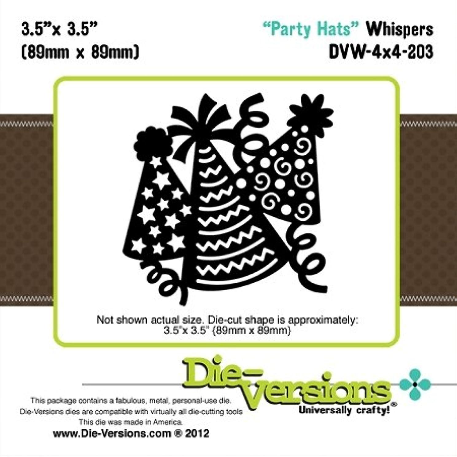 Die-Versions - Whispers - Party Hats Scrapbooking Die Cuts