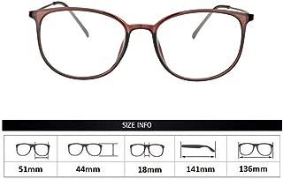 ZTM Men Women Retro Full Rim Frame 1.56 Optical Aspheric Lens - UV400 Anti-Reflection Sunglasses (+ 1.00 to +6.00 diopters),Brass,1.0