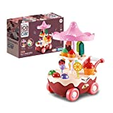 HTHONOR . TRUST Toddler Girl Toys Age 3 4 5 6 Years,Small Ice Cream Truck,Pretend Play Set Food Toys for Girls,Automatic Walking Ice Cream Cart