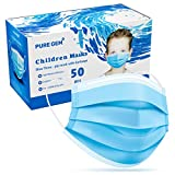 Premium Pack of 50 Masks Children's Size Single Use Disposable Kids Face Mask, Boys and Girls, Soft on Skin, Bulk Pack 3-Ply Masks | Facial Cover with Elastic Earloops For Childcare, School