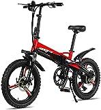 MQJ Ebikes Bicicletas Eléctricas Rápidas para Adultos Bicicletas de Montaña Plegables 48V 250W Adultos Aleación de Aluminio 7 Velocidades Bicicletas Eléctricas Bicicletas de Amortiguador Doble con Ne