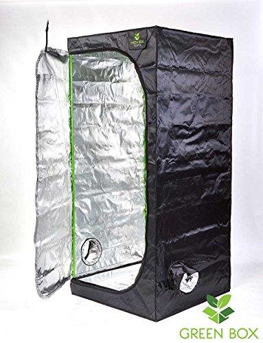 Hydroponics Propagation Grow Tent Grow Room 0.8m x 0.8m x 1.8m Cutting Plant Indoor Growing Silver Mylar 600D Dark Box Bud